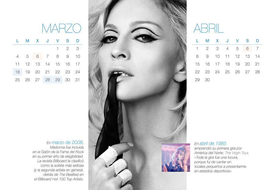 Calendario Madonna - Arte Gráfico